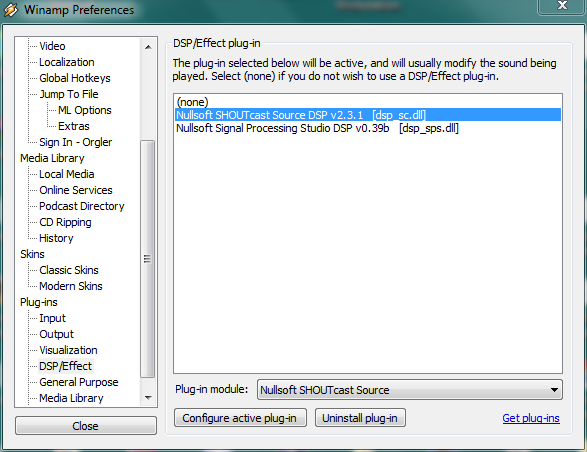 shoutcast source dsp v1.9.0